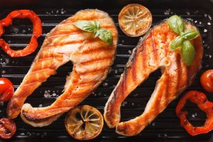 Приготовление лосося на грили